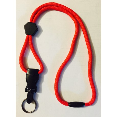 Heavy-Duty Lanyard w/ Safety Breakaway & Release Buckle